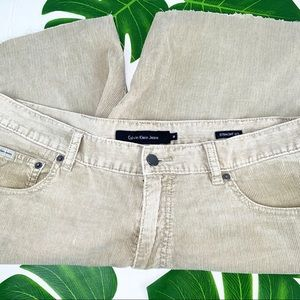 W36 Calvin Klein Tan Corduroy Shorts DISTRESSED